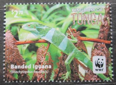 Tonga 2016 Leguán fidžijský, WWF Mi# 2105 0585A