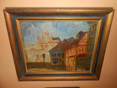 Obrazy z pozůstalostí-Nádherné staré dílo-Josef Dobrowsky !!!!!!!!!!!!