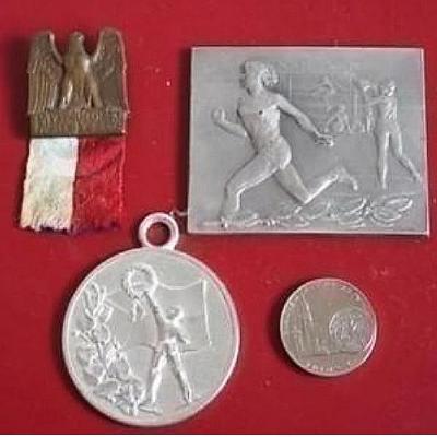Sokolský odznak,velká plaketa,medaile Kremnica a medale ČSR závody