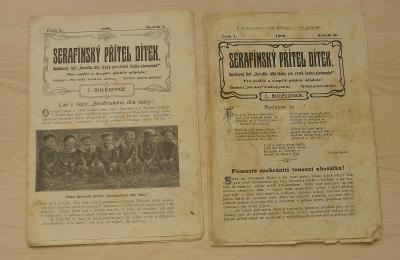 Serafínský přítel dítek * 2 čísla * 1908-1909 * starý časopis