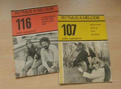 Rytmus a melodie 107+116 * editio Supraphon * Matuška, Zagorová, noty