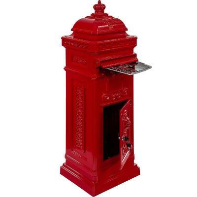 Poštovní schránka starožitná antik - červená 27741