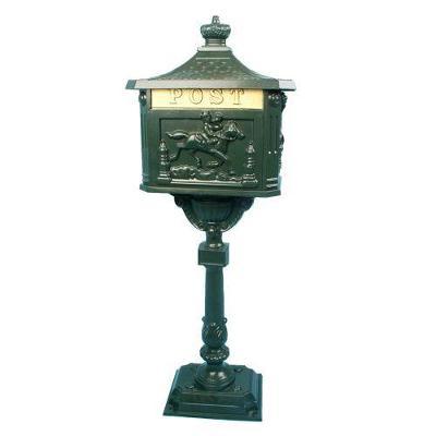Ozdobná poštovní schránka - olivově zelená 1387