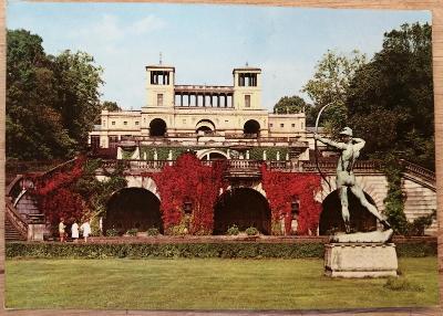 Retro pohlednice z NDR - Potsdam - Sanssouci 1973
