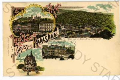 Karlovy Vary koláž více záběrů DA
