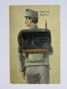 Jindřichův Hradec - Neuhaus - voják - za France Josefa