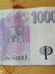 Bankovka 1000kc,,,,J 03,,,2008