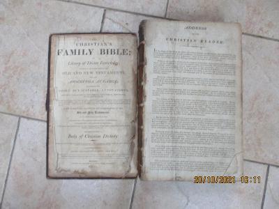 STARÁ OBROVSKÁ ILUSTROVANÁ BIBLE-VRÁCNÝ DOMÁCÍ KOUSEK-1811-ROK-1KČ