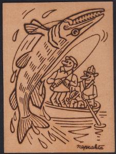 Neprakta dýhová pohlednice rybáři