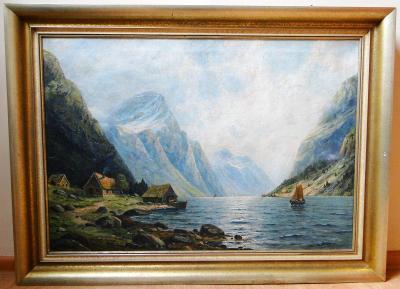 Alpská krajina - 20. století, Olej/sig.