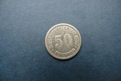 Německo Císařtví 50  pfennig  1876 A (Ag)