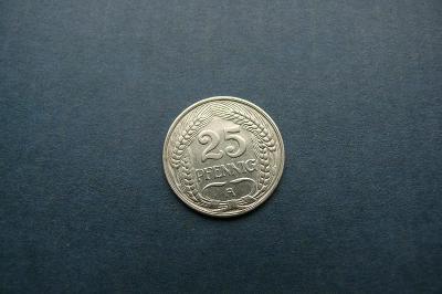 Německo Císařtví  25  pfennig  1910 A (Ni) sbírková