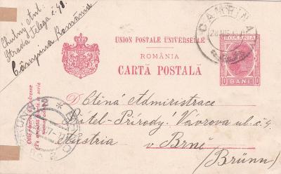Rumunsko, Campina 1907 - Brno.