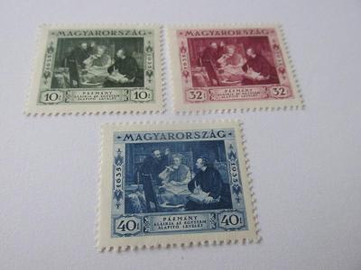 Známky Maďarsko 1935, Péter Pázmány, 300 let Univerzity Budapešť