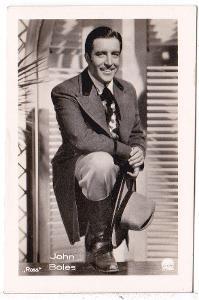Fotoska s hercem John Boles   (4.5x7 cm)