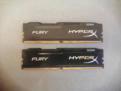 Kingston HyperX Fury Black 16GB (2x8GB) DDR4 2400 Mhz CL15