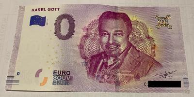 0 Euro Souvenir bankovka Karel Gott