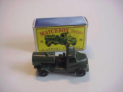 Matchbox RW Nr. 71 ARMY WATER TRUCK + krabička