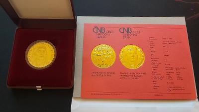 1OZ Zlatá mince 10.000,- 1100. výročí úmrtí kněžny Ludmily BK
