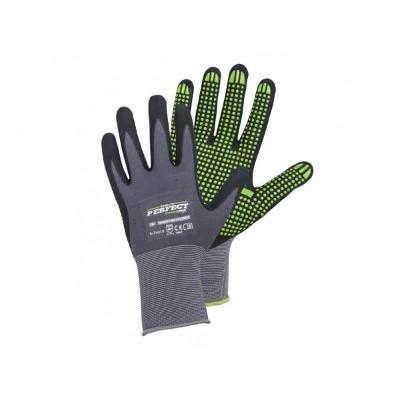pracovní rukavice STALCO Nitrile Flex Perfect PVC VEL. 10