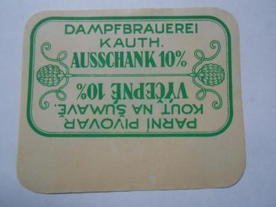 stará pivní sbírka DODATKY pivovar  do 1948 Kout svzel