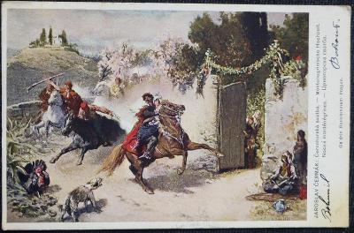 """Jar. Čermák - """"Černohorská svatba"""" -  1915"""