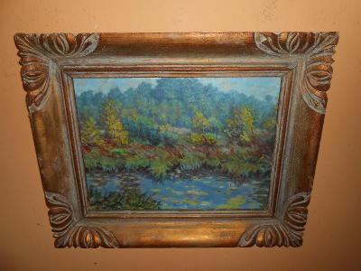 Obrazy z pozůstalostí-Krásné staré dílo-Drahovzal !!!!!!!!!!!!!!!!!!!!