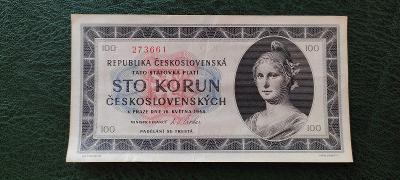 Bankovka - 100 Kčs 1945 - Série C 01 Krásná !!!!!!!