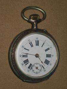 Dvouplášťové kapesní hodinky Ag 800/1000