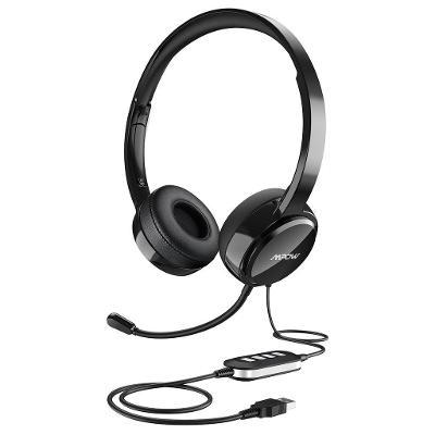 Kvalitní Sluchátka s Mikrofonem - USB - MPOW PA071 / Od Korunky!