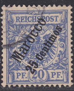 Deutsche Auslandpostämter MAROKO MiNr 4o