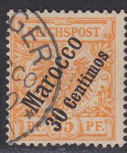 Deutsche Auslandpostämter MAROKO MiNr 5o