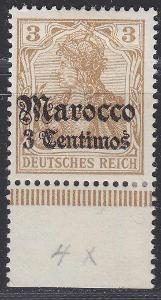 Deutsche Auslandpostämter MAROKO MiNr 21*