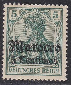 Deutsche Auslandpostämter MAROKO MiNr 22*