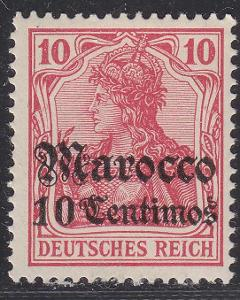 Deutsche Auslandpostämter MAROKO MiNr 23*