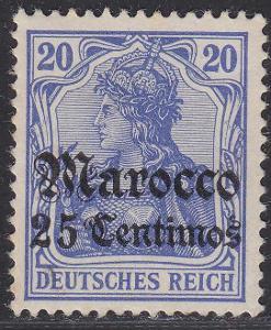 Deutsche Auslandpostämter MAROKO MiNr 24*