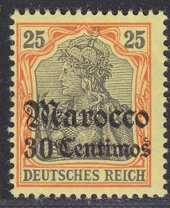 Deutsche Auslandpostämter MAROKO MiNr 25*