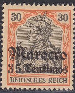 Deutsche Auslandpostämter MAROKO MiNr 26*