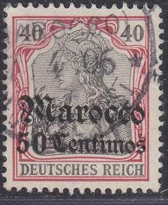 Deutsche Auslandpostämter MAROKO MiNr 27o