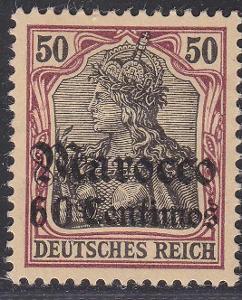 Deutsche Auslandpostämter MAROKO MiNr 28*