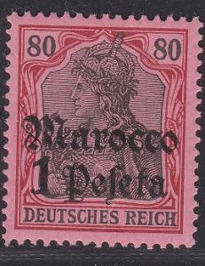 Deutsche Auslandpostämter MAROKO MiNr 29*