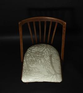 Dřevěná židle, 60-70.léta, kořeny stromů