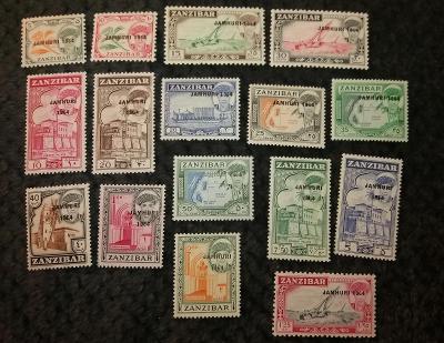 Zanzibar 1964 ** domáce motívy komplet mi. 281-296