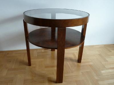 kulatý stolek z  meziválečné doby