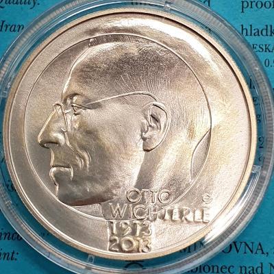 Stříbrná mince 200 Kč OTTO WICHTERLE pamětní mince
