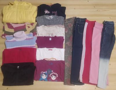 Sada dívčího oblečení vel. 140 - 146