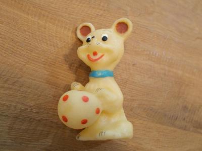 Gumová pískací hračka  12cm - od 1kč