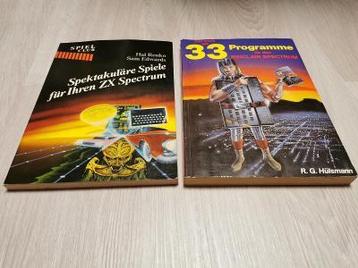 2 knihy s výpisy programů pro ZX Spectrum