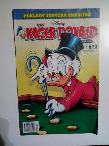 Časopis, Kačer Donald, č. 6/2013, pěkný stav