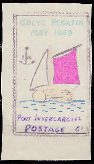 Známková země ZZ GBLA Suez Egypt blokáda 1969 regata GBLYC Invercargil